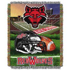 arkansas state red wolves | Arkansas State Red Wolves Home Field Advantage Throw Blanket