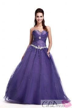 Gorgeous Ball Gown Sweetheart Floor-length Organza Beading dress SKU: SBG0226-TB