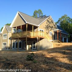 L shaped ranch with front walkout basement and side load