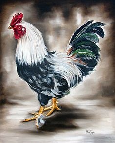 Ilse Kleyn - Blue and green rooster