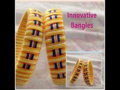 how to make Designer Silk Thread Bangle/Kada at Home   DIY - YouTube