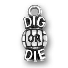 Dig or Die Sterling Silver Volleyball Charm Volleyball Jewelry for your fav Volleyball fan  http://www.halolujah.com