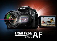 Canon EOS 70D's Dual Pixel AF CMOS sensor.