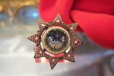 Antique Venetian Micro Mosaic brooch in the shape of a star,19th century