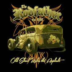 Hot Rod T Shirt Old School Monster Rat Roddder Pinstripes Small to 6XL and Tall #PitStopShirtShop #GraphicTee