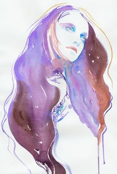 Winter Lilac | Cate Parr #watercolor #fashion #illustration