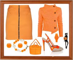 """""""orange you glad you repinned this?"""" by carolwatergirl on Polyvore"""