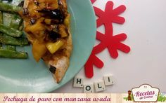 Pechuga de pavo con manzana asada -  ¿Comidas copiosas en verano? No, gracias. ¿Sacrificar el sabor hasta nuevo aviso? ¡Tampoco! No debemos descuidar nuestra alimentación (ni sacrificar nuestras papilas gustativas) en periodo estival, por ello os animo a que dejéis de abusar de las ensaladas y que probéis cocinar alimentos de man... - http://www.lasrecetascocina.com/pechuga-de-pavo-con-manzana-asada/