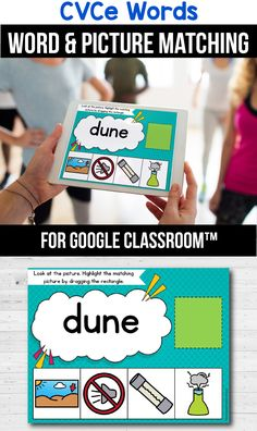 Looking for ideas for the google classroom for your kindergarten, first grade or special education kids? These activities are perfect for teachers to use in the classroom or for parents to use for homeschool. These CVCe word activities for beginners replace old and outdated worksheets. You can use them while distance learning to make learning CVCe words with pictures, long a, long e, long i, long o or long u easier. #googleclassroom #cvcewords #digitallearning #distancelearning Rhyming Activities, Classroom Activities, Teacher Tools, Teacher Resources, Early Education, Special Education, Cvce Words, Help Teaching, Reading Resources