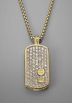 ✿ڿڰۣ(̆̃̃•Aussiegirl   David Yurman Pave Diamond Tag Necklace