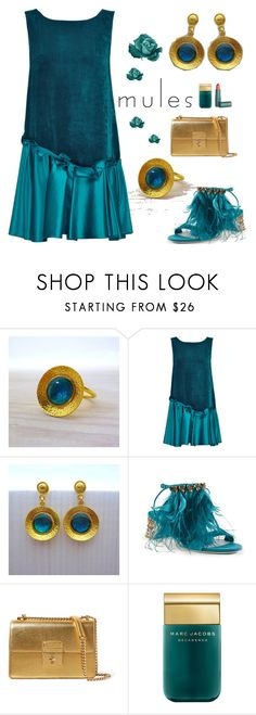 """""""Mules Emerald - Evangelos Jewellery"""" by evanangel ❤ liked on Polyvore featuring Lattori, Miu Miu, Dolce&Gabbana, Marc Jacobs and modern"""