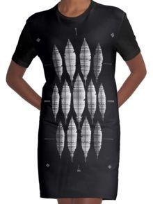 NATIVE BLING (ZWART-WIT) Grafische T-shirt Dress