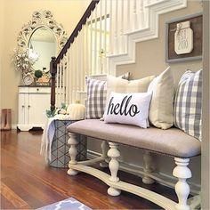 house design home decor, entryway decor, hallway decorating. Hallway Decorating, Decorating Ideas, Decor Ideas, Room Ideas, Wall Ideas, 31 Ideas, Deco Design, Foyer Design, My New Room