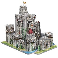 Wrebbit Camelot Castle 3D-palapeli (865 kpl) - IWOOT UK Easy Minecraft Houses, Minecraft Castle, Minecraft Houses Blueprints, Lego Castle, Minecraft Creations, Minecraft Projects, Minecraft Designs, Cool Lego Creations, House Blueprints
