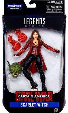Hasbro Disney Marvel Marvel Legends Infinite Captain America Civil War: Abomination Series: Scarlet Witch (Movie Ver.) Action Figure 6 Inches Tall in Box with Accessories Hasbro, Disney
