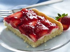 Strawberries and Cream Dessert Squares Recipe from Betty Crocker