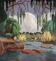 JH Pierneef, Oil on canvas, Vaal River near Parys African Paintings, South African Artists, Painter Artist, Landscape Art, Love Art, Art Forms, Art Images, Vintage Art, Amazing Art