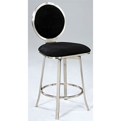Chintaly Imports Upholstered Round Back Memory Swivel Counter Stool