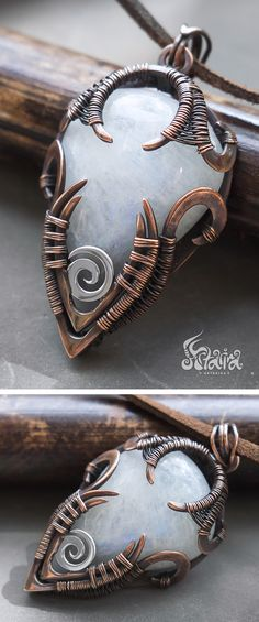 Moonstone wire wrapped jewelry