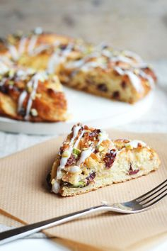 Pistachio and Cranberry Couronne by Fig and honey