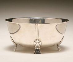 "silver serving dishes   Tiffany & Co ""Palmette"" sterling silver serving bowl.   Antique Helper"