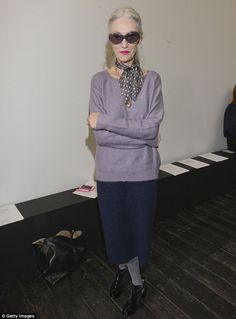 Chic lady: Linda Rodin, a fashion stylist and skincare entrepreneur, has spoken out against the fashion industry's age discrimination