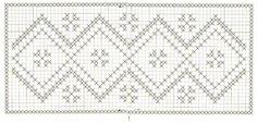 caminho de mesa de crochê com grafico 1