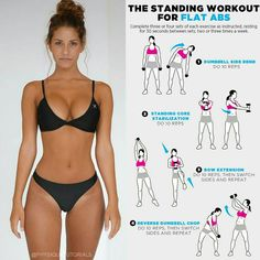 @fitutor - Fit - Healthy - training - The standing workout for abs! Follow us (@fitutor) for the best daily workout tips 💪 ⠀ 📸 All credits to respect...
