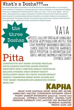 AYURVEDA & the Doshas
