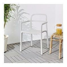 YPPERLIG Armchair, in/outdoor IKEA Durable; meets the requirements on furniture for public use. Ikea X Hay, Ypperlig Ikea, Dinning Chairs, Cafe Chairs, Outdoor Chairs, Ikea Chairs, Kitchen Chairs, Ikea Garden Furniture, Kids Furniture