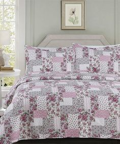 0c93ea9a6594 This Pink Roses Madrid Quilt Set by Hotel 5th Ave™ is perfect!  zulilyfinds
