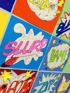 Onomatopoeias made to look like comics. An awesome project!