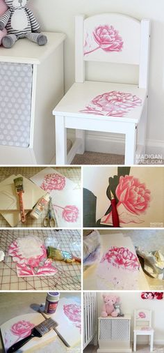 DIY Child's Chair with Photo Transfer Medium.                                                                                                                                                                                 More