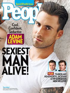 Adam Levine on the Cover of People Magazine - Sexiest Man Alive
