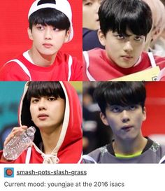 Baby Jae looks like he's about to murder someone in that second pic lmfao  #bap #bapfunny #funnybap #youngjae #yooyoungjae #kpop #babyz #kpopfunny #funnykpop #isac