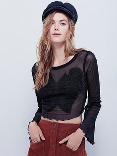 FP X Lover's Lace Applique Top at Free People Clothing Boutique