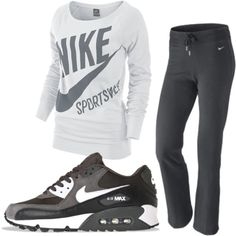 A fashion look from January 2012 featuring NIKE sweatshirts and NIKE activewear pants. Browse and shop related looks.