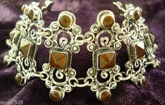 US $169.95 New without tags in Jewelry & Watches, Ethnic, Regional & Tribal, Mexican Southwest Jewelry, Amber Beads, Regional, Ethnic, Jewelry Watches, Mexican, Tags, Sterling Silver, Bracelets