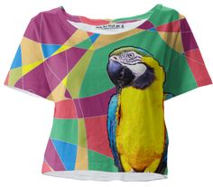 Parrot in Tropicana designed by bunhuggerdesign | Print All Over Me