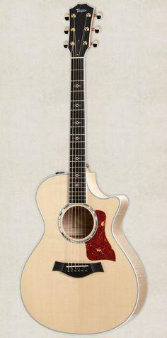 beautiful acoustic guitars taylor 612ce1