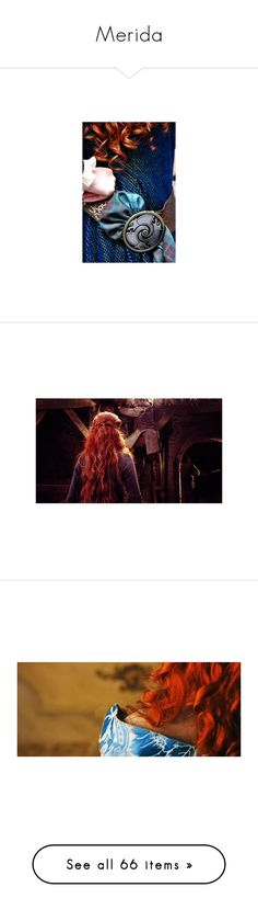 """""""Merida"""" by karanova ❤ liked on Polyvore featuring disney, backgrounds, fantasy, merida, photos, hair, pictures, people, brave and fairytales"""