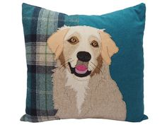 Fox Red Labrador, Dog Cushions, Embroidered Cushions, Jack Russell Terrier, Applique Quilts, Dog Portraits, Animal Pillows, Dog Breeds, Colorful Backgrounds