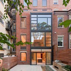 Exterior Brick | Black Steel Frame Windows