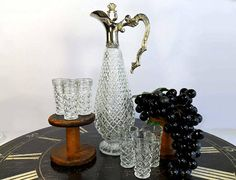 Your place to buy and sell all things handmade Cordial, Wine Decanter, Carafe, Silver Plate, Candle Holders, Sparkle, Candles, Display, Crystals