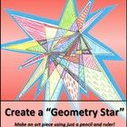 "This is one of my favorite back-to-school activities to do with upper elementary students. It's a simple review of point, line, line segment, endpoints, and ruler use, plus the ""stars"" turn into unique, colorful art work for the classroom! Free!"