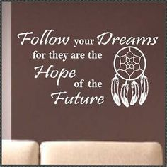 Vinyl Wall Lettering Words Quotes Native Dreamcatcher   eBay