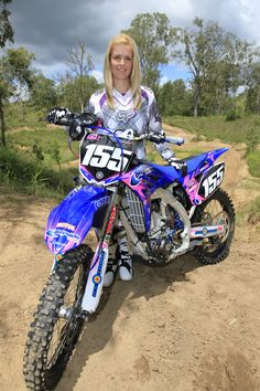 motocross senior picture | Yamaha Girls Dominate at Qld Go Girls