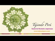 Horquilla (hairpin lace): cómo tejer un motivo cuadrado con base circular (# 4) - YouTube