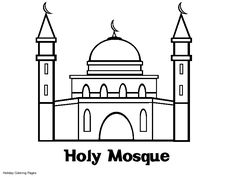 Coloring Pages Printable Mosque Coloring Sheets Mosque Coloring
