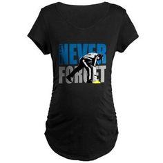 Detroit Flag Gate Maternity Dark T-Shirt for